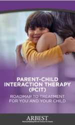 PCIT brochure cover image boy and mother hugging